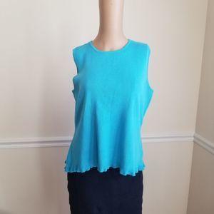 Karen Scott Tank Sweater Blue L